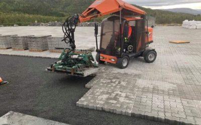 13000 m2 steinlegging